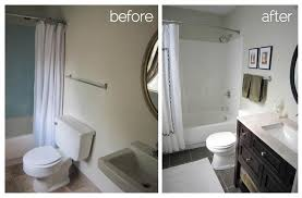 Small Picture Interesting Small Bathrooms Before And After Bathroom Remodel
