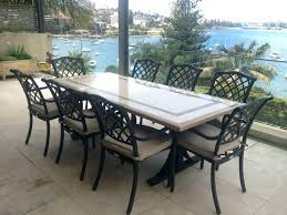 patio stone table 9 rectangular dining that will impress your guests modern top set round outdoor