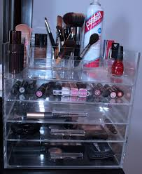 If you don't own a lot of makeup, the Whitmor organizer is still great for  storing hair accessories, and products. I believe this cosmetics organizer  is a ...