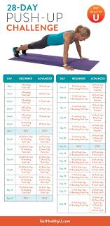 Push Up Chart A Chart For A 28 Day Push Up Challenge From Chris Freytag