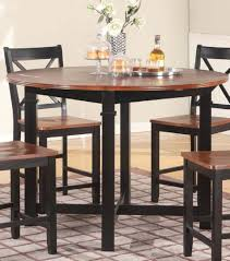 dining room table with leaf. Drop Leaf Pub Table In Cherry/Black Dining Room With Q