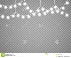 White Garland No Lights Christmas Lights Isolated On Transparent Background Vector