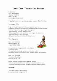 Lawn Care Specialist Resume Lawn Care Technician Cover Letter abcom 1