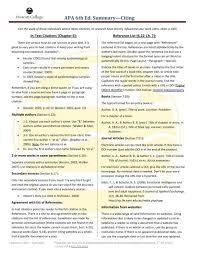 apa 6th ed summary citing