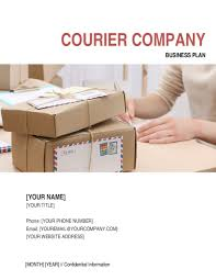 Business Plan Document Template Courier Company Business Plan Template Word Pdf By Business In