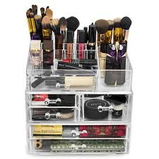 large acrylic drawers with 15 section makeup organizer