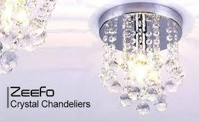 flush mount mini chandelier crystal chandeliers light mini style modern flush