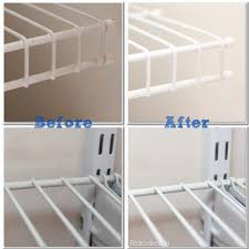 diy cleaning wire shelves in closet shelving decorating
