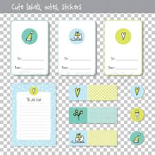 Gift Cards Note Paper Notes To Do Stock Vector Colourbox