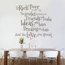 Wall Decor Stickers For Living Room You Are Rich Or Poor Wall Decal Quote Sticker Lounge Living Room