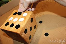 Wooden Yard Games diy with style Summer Fun with DIY Wooden Yard Dice Blue i 54