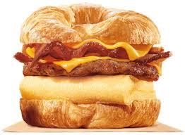 burger king king croissanwich sausage and bacon