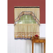 Red Swag Kitchen Curtains Kitchen Swags Home Kitchen Curtains Country Kitchen Curtains