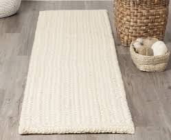 bleached jute rug and runner