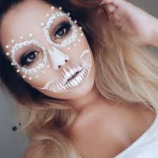 white lace day of the dead makeup