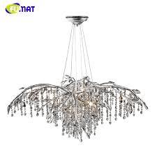 european vintage iron flower chandelier lamp home deco living room fumat new modern led chandelier flower k9 crystal