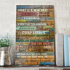 Wood Wall Art Quotes Amazing Inspirational Quotes Wall Art Today Is A New Day By Marla Rae 48 X
