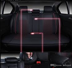 universal fit car seat covers pu leather deluxe car cover seat protector cushion black front cover headrest covers seat covers automotive seat covers
