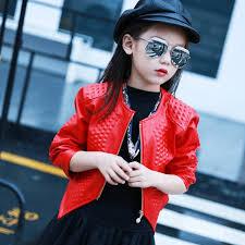 2018 autumn children clothing pu jacket fashion short zipper motorcycle leather jacket kids clothes back to
