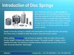 Disc Spring Design Guide Ppt Disc Springs Disc Springs Manufacturers Disc