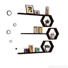 book rack set of 4 wooden floating cube