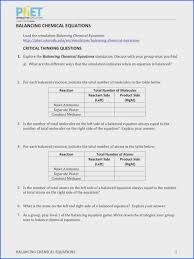 phet balancing chemical equations answers lovely balancing chemical equations worksheet