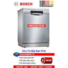 Máy rửa bát 3 khoang rửa Bosch SMS68UI02E màu inox nhập khẩu Đức