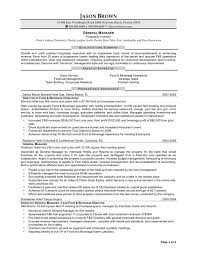 Curriculum Vitae Sample For Hotel And Restaurant Management New