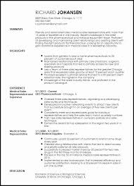 Sales Representative Resume Samples Mesmerizing Medical Representative Curriculum Vitae Sample Lovely Free