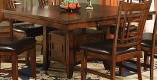 square dining table with leaf. Eureka Square Dining Table W Leaf \u0026 Storage Pedestal Base With