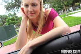 Mila Evans in Blonde Bangs In the Back Seat Mofosnetwork