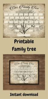 Family Tree Printable Template Custom Family Tree Printable 5 Generation Template