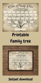 Free Ancestry Chart Templates Custom Family Tree Printable 5 Generation Template