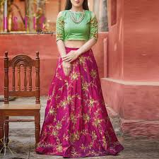 Skirt Top Stitching Designs Latest Designer New Style Crop Top Skirt Lehenga