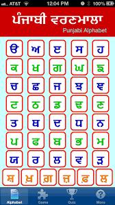 Punjabi Chart 37 Expert Punjabi Alphabets Chart
