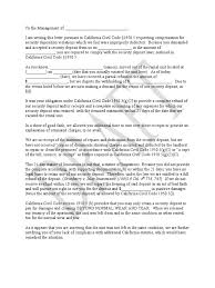 Demand Letter California Tenants Leasehold Estate Receipt