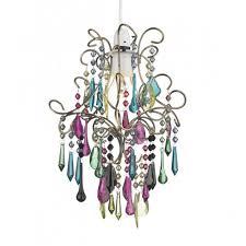 jodi easy fit multi coloured glass pendant light
