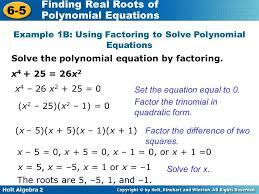 solving polynomials factoring example 1b 3a using solve polynomial solving polynomial equations