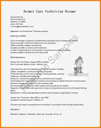 Animal Care Worker Sample Resume Template For Microsoft Word