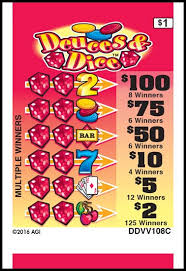 Deuce Ticket Vending Machine Locations Adorable Deuces Dice American Games Pull Tab Tickets Pull Tab Ticket