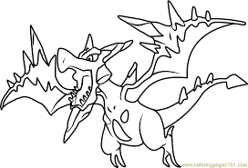 Small Picture Mega Aerodactyl Pokemon Coloring Page Free Pokmon Coloring