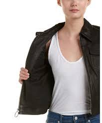 style 456606201 alc a l c allen leather jacket color black leather design dual t