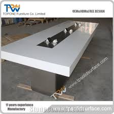 acrylic office furniture. chinese factory acrylic solid surface new design modern conference table for artificial marble stone office furniture white