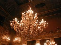 huge chandelier installed