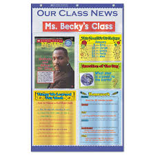 What Is Pocket Chart Our Class News Pocket Chart Newspaper Layout 6 Pockets 18 1 2 X 29 1 2 Blue