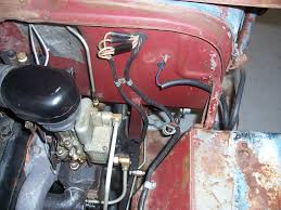 wiring harness routing the cj2a page forums once again going for driver not restoration ignore the blue wire coming out of the vacuum hose that goes to my electric wiper motor