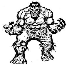 hulk clipart colouring page 15