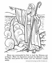 Moses Coloring Pages Printable Jokingartcom Moses Coloring Pages