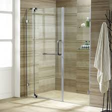 vigo pirouette 60 x 72 pivot frameless shower door clear brushed nickel