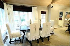 white slipcovered dining chairs plastic kitchen chair covers round back dining room chair covers with